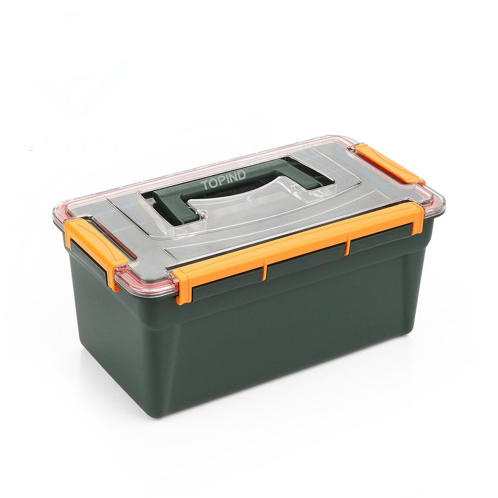 TOPIND Fishing Tackle Gear Box Bait Bait Hook Fishing Tackle Box fishing Gear Storage Box