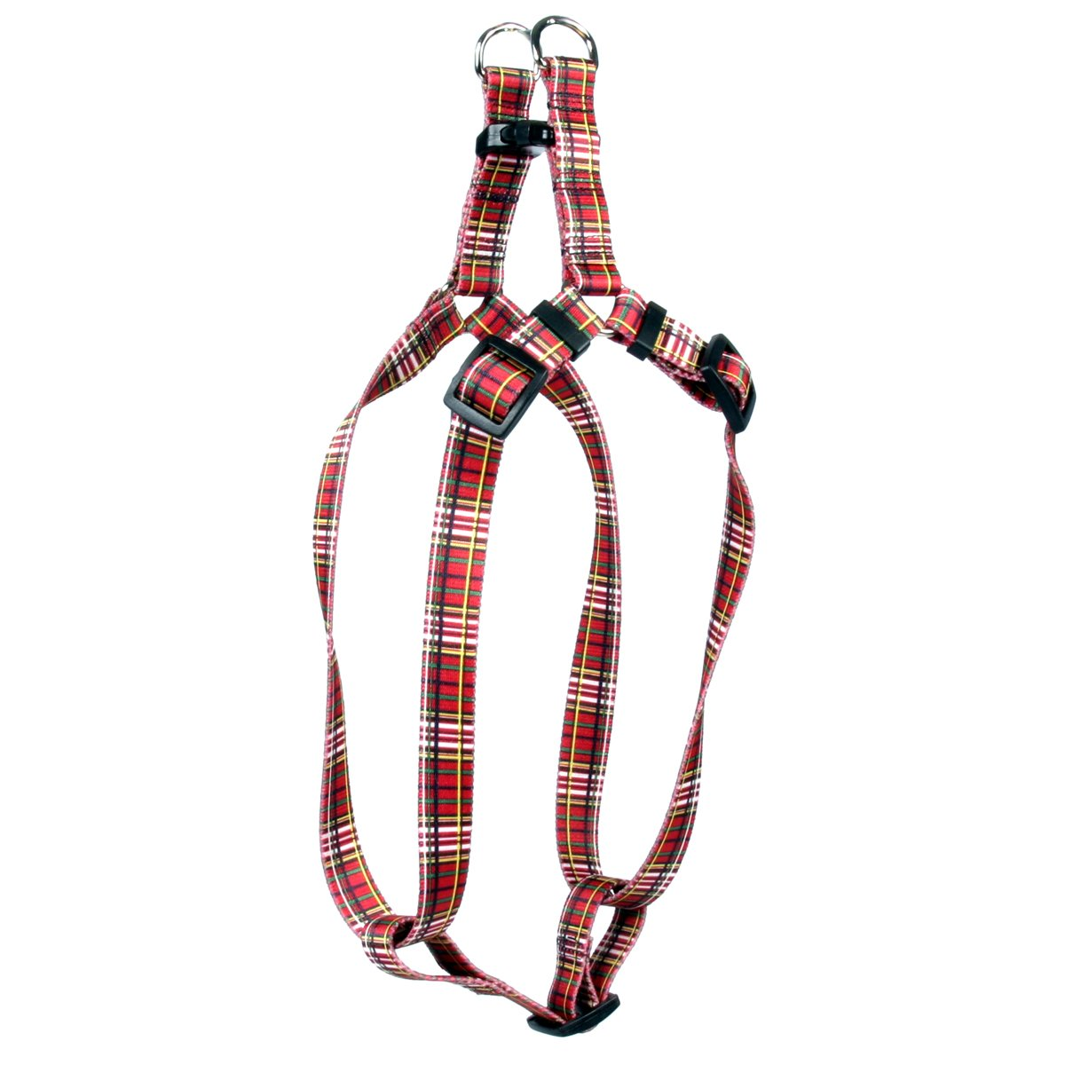 Yellow Dog Design Tartan Red Step-in Dog Harness-Medium-3/4 Wide and fits Chest Circumference of 15 to 25'' by Yellow Dog Design