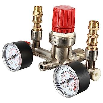 dsloger ajustable 175PSI Compresor de aire Presión Interruptor de control regulador de aire y prensa Calibres