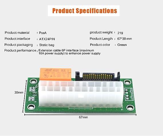 Amazon.com: Add2PSU Multiple Power Supply Adapter,ATX 24Pin to SATA ...