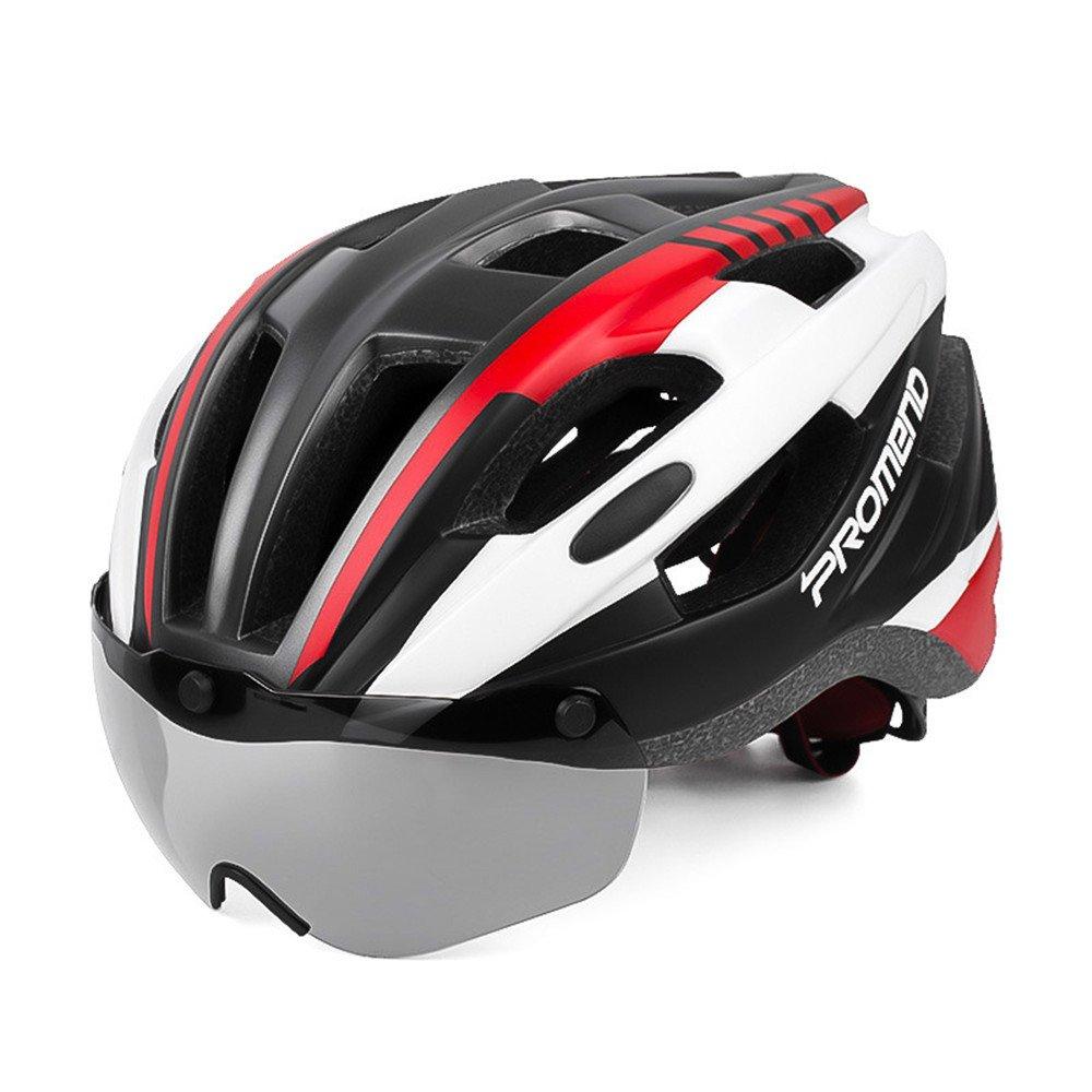 DESESHENME Ultra-Light 271g Brille Fahrradhelm Road Mountain MTB Fahrradhelm in-Mold Fahrradhelm mit Sonnenblende Helm 57-62cm