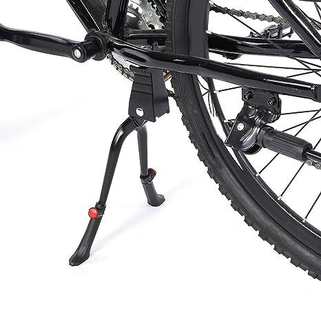 Soporte de Bicicleta Ajustable de aleaci/ón con Doble Pata para Bicicletas de 24 a 28 Pulgadas EBTOOLS