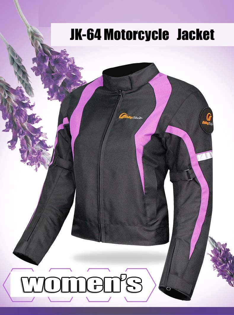 Chaqueta de Moto para Mujer para Motocicleta para el Invierno c/álida Accesorios de protecci/ón de Redcoloury