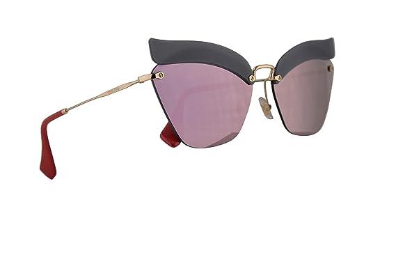 ca2fa632f9f3 Image Unavailable. Image not available for. Color  Miu Miu MU56TS Sunglasses  Opal Dark ...