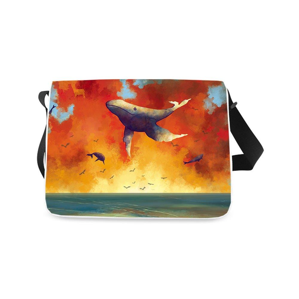 Messenger Bag Dolphin Printed Classic Messenger Bag One-side Printing