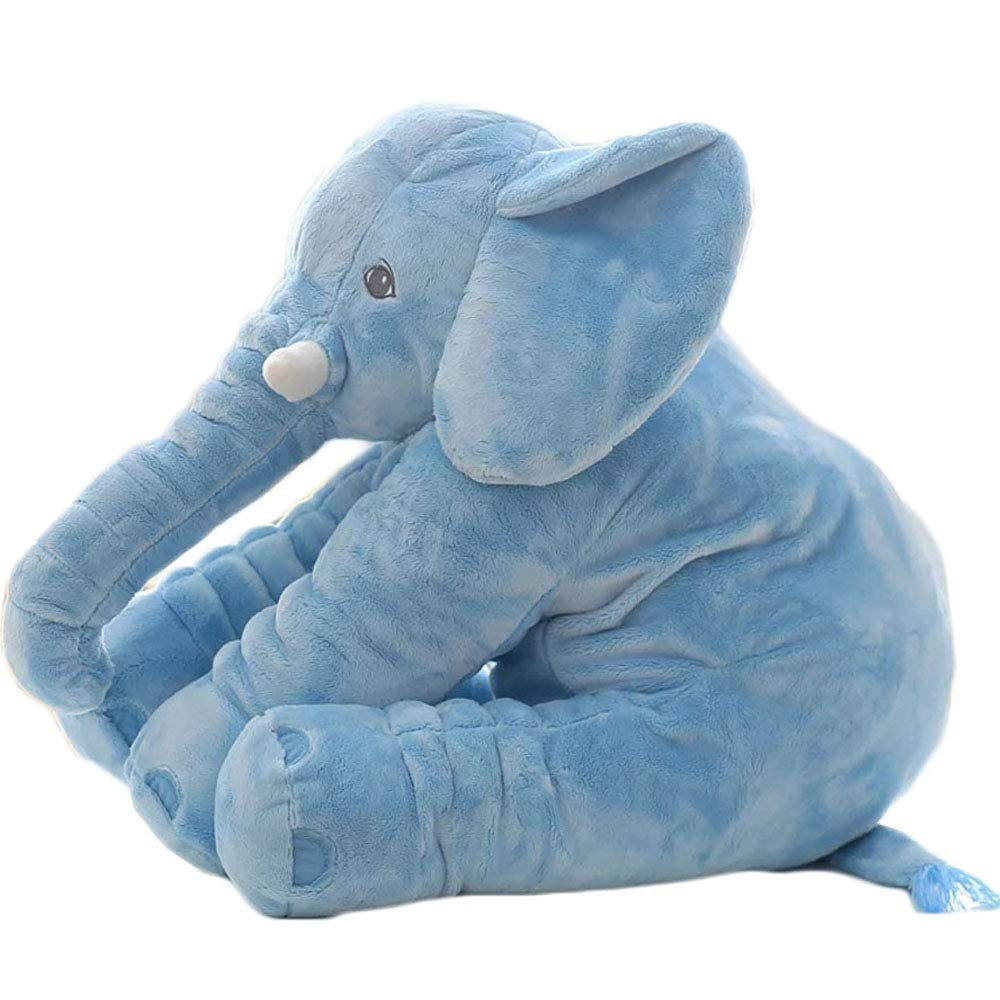 Levenkeness Elephant Stuffed Plush Toy, Large Stuffed Animals Cushion Pillow Decor Kids Birthdays Gifts Blue 24 inch