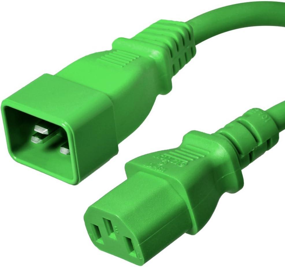 Orange Iron Box Part # IBX-1622-08 14//3 AWG IEC 60320 15A//250V C20 to C13 Power Cord