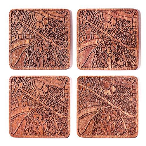 Belgrade Map Coaster by O3 Design Studio, Set Of