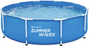 Summer Waves 10 x 30 Round Metal Frame Above Ground Swimming Pool