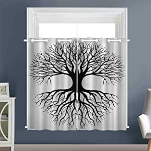 """2 Panel Darkening Curtains Roots Branch Leafless Grommet Decor Darkening Curtains Curtains/Panels/Drapes Multicolor (1 Pair, 36"""" Width x 45"""" Length Each Panel)"""