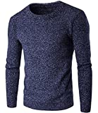 Sweater Men New Pullovers Casual Sweater Male O Collar Solid Simple Fit Knitting Mens Sweaters Man Pullover Men S NavyX-Large