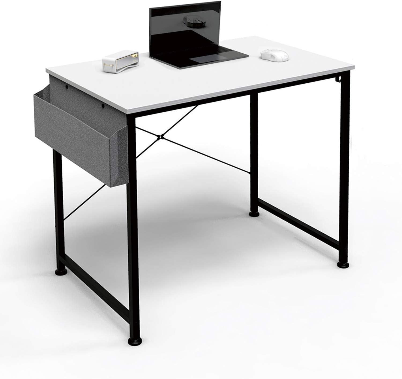 """Computer Desk 31"""" Home Office Desk, Writing Desk Laptop Table with Storage Bag and Headphone Hook, Simple Study Desks for Bedroom, Home, Office (Random Color: White Oak/Vintage Oak)"""