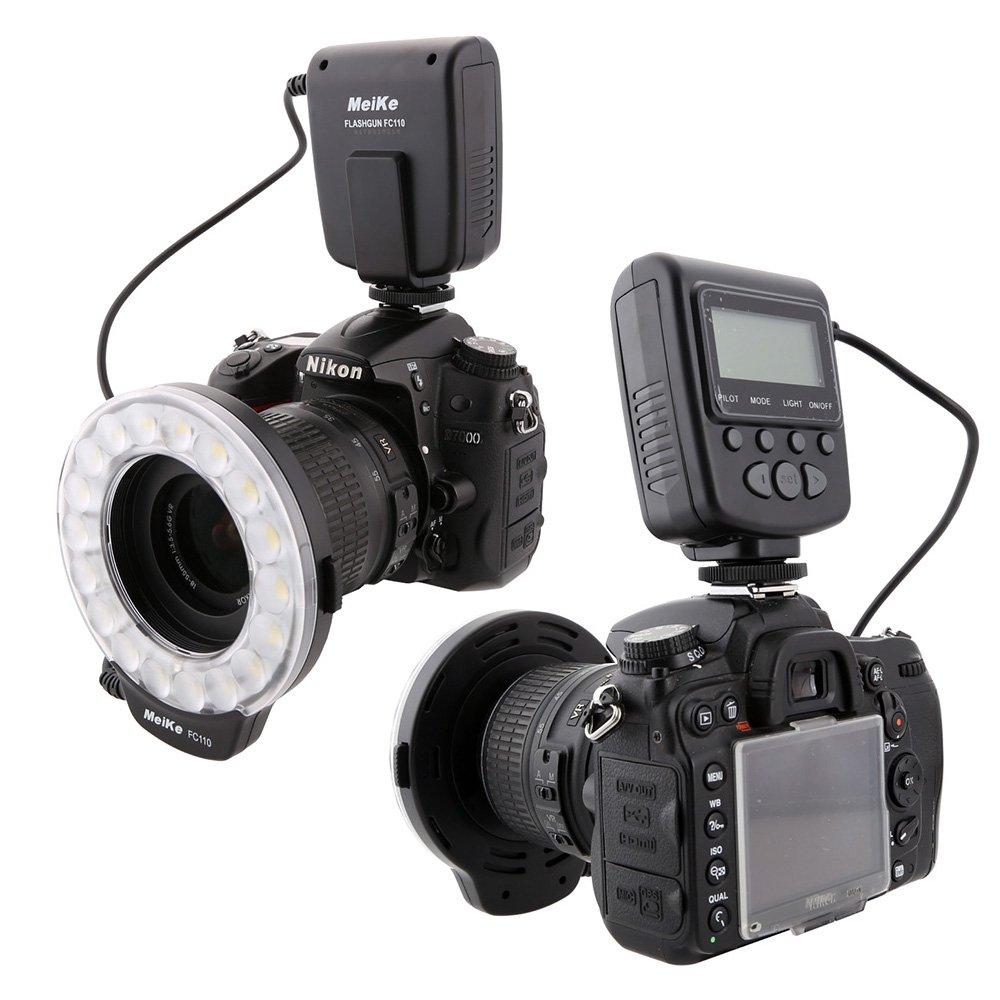 Amazon.com: Meike LED Macro Ring Flash Light for Canon Nikon Sony ...