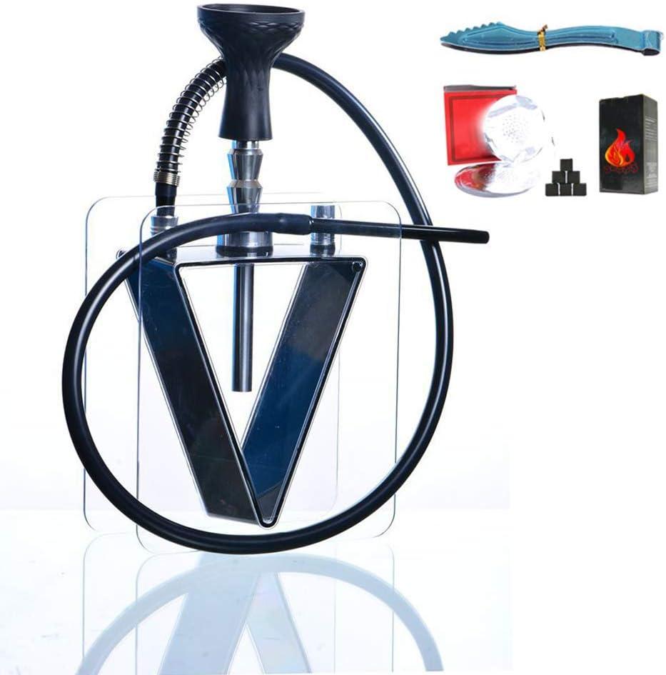WZLJW Acrílico cachimba cachimba del Kit de acrílico, Silicona con Clip Hookah el tazón de Fuente de Carbono y la Hoja de Lata al Mejor Conjunto Fumar narguile ggsm