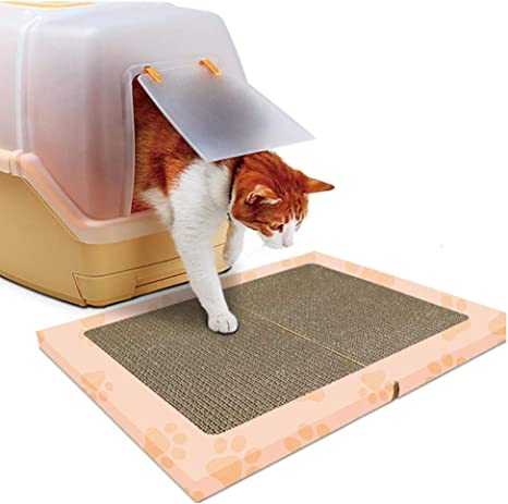 PJDDP Mat Cat Litter, Gato Rascador De Cartón, Cat Scratch Corrugado, Caja De Arena Alfombra De La Manta, Arena para Gatos Mat Camada Trapper, Easy Clean Y La Protección De La Moqueta: