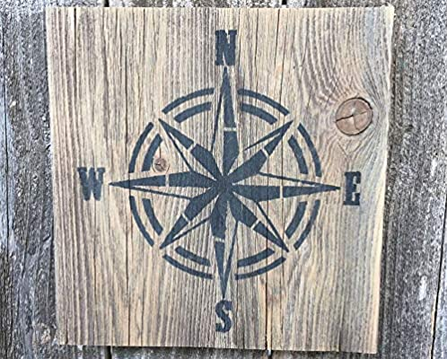 PotteLove - Cartel de Madera con brújula para decoración ...