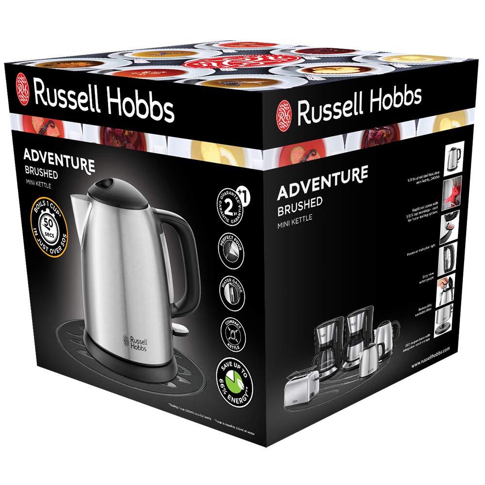 Bollitore Elettrico Acciaio Inox 1,7 Litri 2400W Russel Hobbs 20195-70
