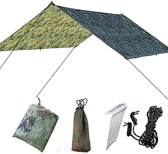 Refugio de lona, 9.8x9.5 camuflaje pies de la hamaca cubierta Lona ...