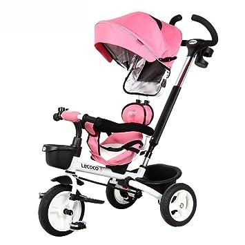 DACHUI Los niños Plegable Triciclo, Bicicleta, Moto, bebé ...