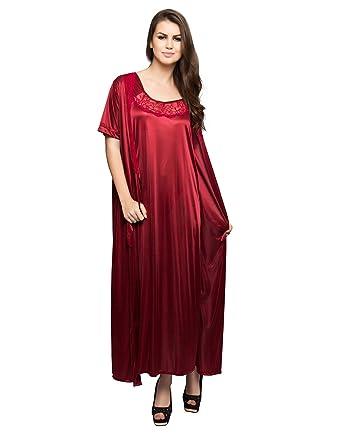 592c153844 Clovia Women s 9 Pcs Nightwear Set In Maroon (NSM268G09 Red Free Size)