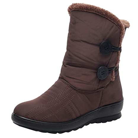 a8468e03fc82c Amazon.com: Teresamoon Women's Ladies Winter Waterproof Short Snow Boots  Footwear Warm Shoes (Brown/39): Home Audio & Theater
