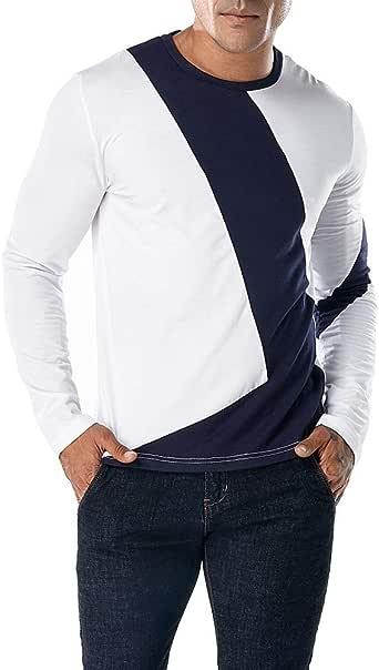 Camiseta de Manga Larga Delgada con Cuello en v Manga Larga para Hombre de Internet: Amazon.es: Ropa y accesorios