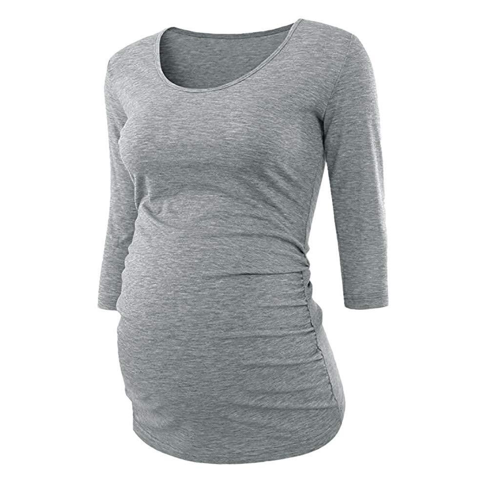 STRIR Maternidad Camiseta Mangas Largas para Mujer