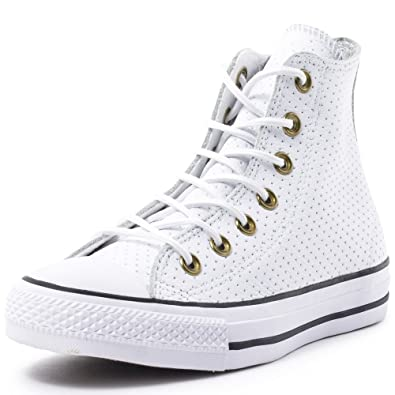 25d92fde24c Converse Unisex Chuck Taylor All Star Hi White Biscui Basketball Shoe 3.5  Men US