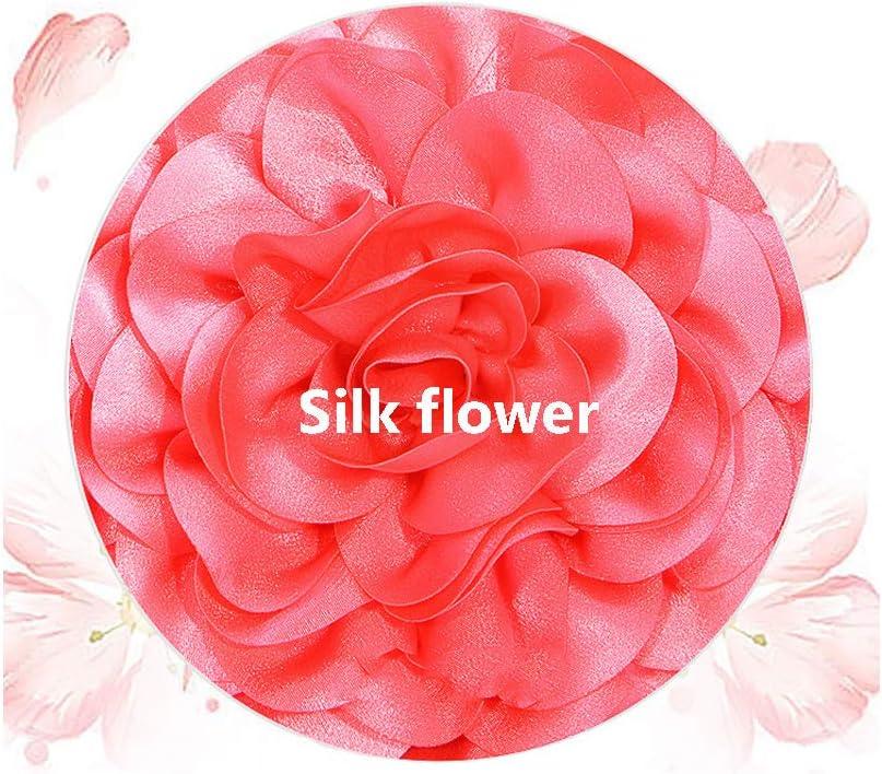 Moda Rotondo Elegante Floral Tote delle Signore, unità di Elaborazione di Spalla di Seta a Tracolla,G H