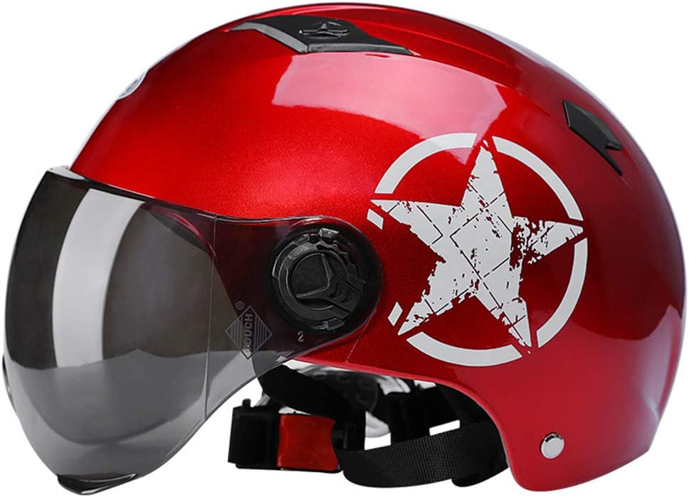 Fahrrad Fahrradhelm Abnehmbares Visier Ersatzpolster Einstellbare Mountain Road Biking Helme F/ür Erwachsene M/änner Frauen Adult Bike Elektrohelm