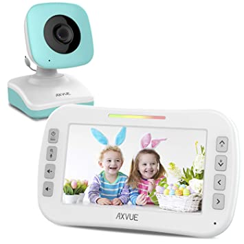 Video Baby Monitor with Two Cameras and 4.3 Screen by Axvue Model E612 Multifunctions