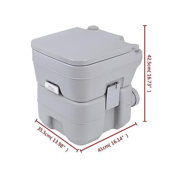 MuGuang Camping WC 20 l Deluxe Travel Portable WC para Autocaravana Caravan: Amazon.es: Deportes y aire libre