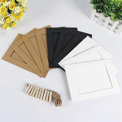 Amazon.com: KAYI Diy Paper Photo Frames Cardboard Picture Frames ...