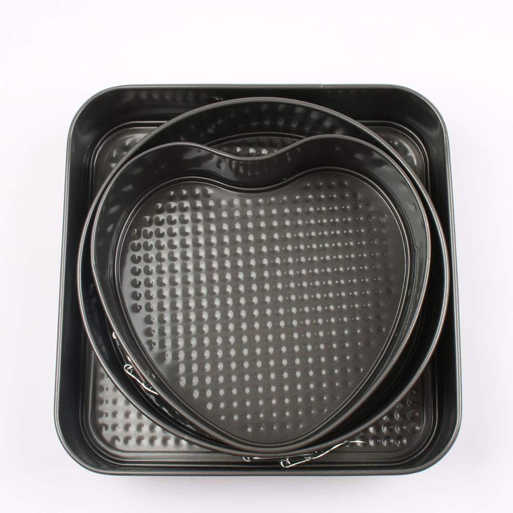 Gano Zen Cake Pan Set 4-inch Mini Springform Pans Set, Carbon Steel Baking Pan/Non-Stick Mini Cake Pans, Round Bakeware Cheesecake Pan Set of 4 by Gano Zen (Image #1)