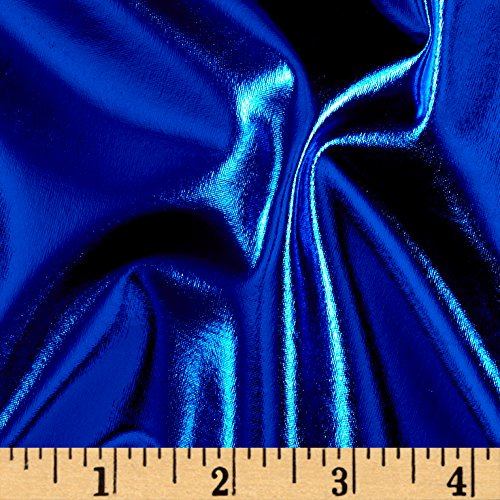 Ben Textiles Foil Lame Knit Spandex Fabric, Royal, Fabric by the -