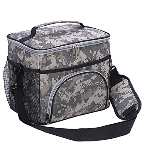 4b31b387228c HMQINYI Large Thermal Lunch Box For Man Camouflage Insulated Lunch Bags For  Adults With Shoulder Strap Pretty Picnic Cooler Bag 18-cans (CAMO)