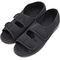 Woman Diabetic Shoes, Extra Wide Width Open Toe Sandals, Adjustable Arthritis Edema Slippers for Elderly Women