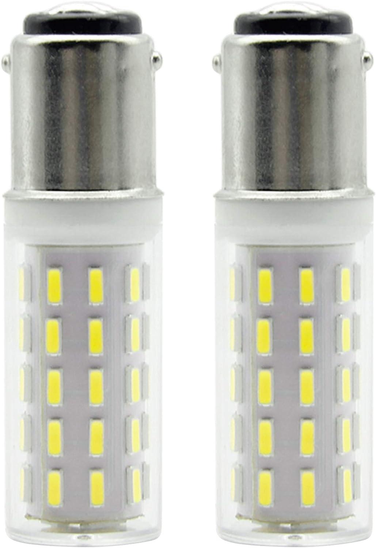ZOZO Bombillas LED B15D No Regulable Brillo Alto 4W Equivalentes a Lámparas Halógenas de 45W 400LM AC 100-240V Blanco Fría 6000K,Para uso en máquinas de coser (2 piezas)