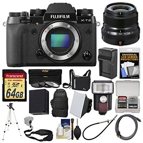 Fujifilm X-T2 4K Wi-Fi Digital Camera Body with 23mm f/2.0 L