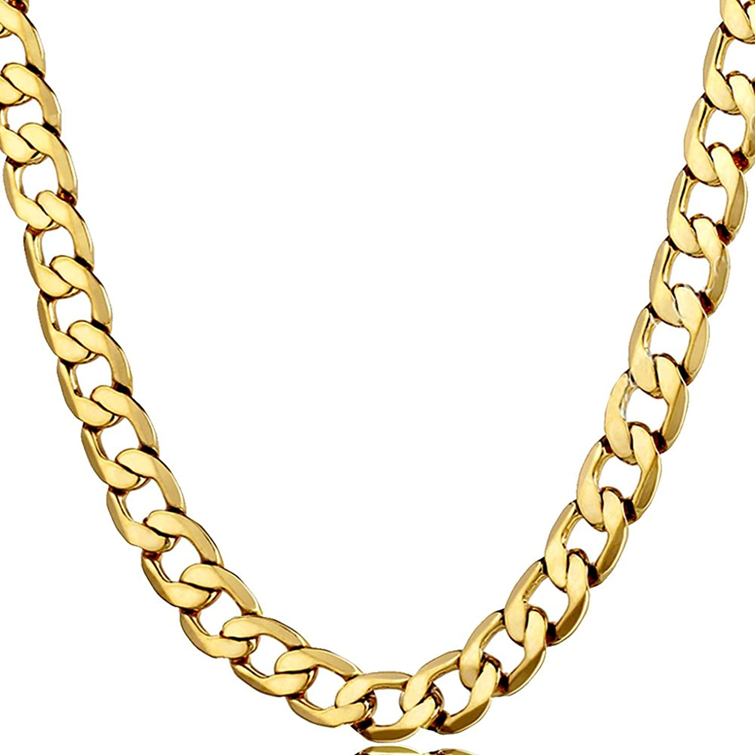 Miami Cuban Chain Necklace Stainless Steel Men Necklaces Fashion Hop Hip Sports Jewelry