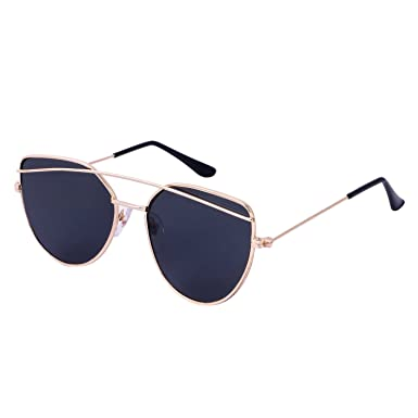 d3f529ce501 Ya Basilea Unisex Navy Color Lens   Metal Frame Aviator Sunglasses   Amazon.in  Clothing   Accessories