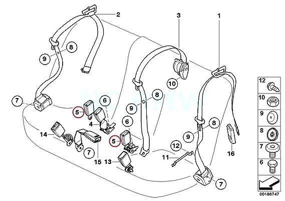 amazon bmw genuine rear lower strap automotive Kirby G3 Diagram