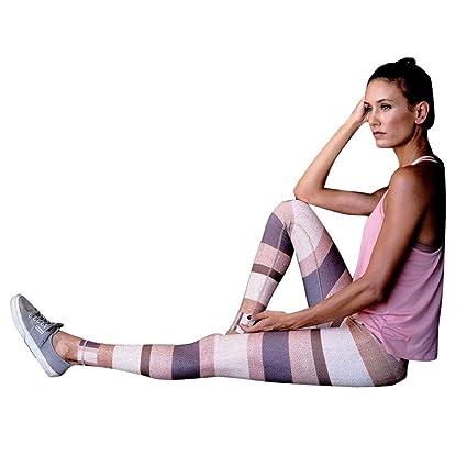 374a8267e2 CSSD Women {Multicolor Striped} Patchwork Print {Sports Pants} {Yoga} {