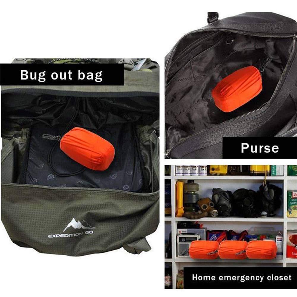 1-Pack Notschlafsack Thermo-wasserdichter Outdoor-Survival-Camping-Rucksack