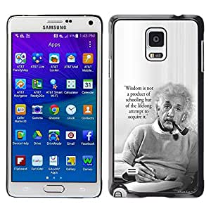 Plastic Shell Protective Case Cover || Samsung Galaxy Note 4 SM-N910 || Science Quote Smart Man @XPTECH