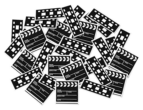 Hollywood Movie Mask (Clapboard & Filmstrip Print-Fetti Party Accessory (1 count))