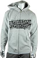 Alpinestars Men's Stamp Out Zip Front Fleece Hoodie, Large, Heather Grey