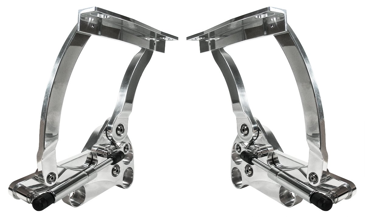 Southwest Speed NEW POLISHED BILLET ALUMINUM SOLID FRAME HOOD HINGES WITH GAS SPRINGS FOR 67-72 CHEVY GMC TRUCK WITH FIBERGLASS & CARBON FIBER HOODS, PRECISION MACHINED, 1967 1968 1969 1970 1971 1972