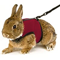 Calunce Soft Rabbits Harness with Leash (Red 1pcs)