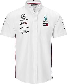 Mercedes-AMG Petronas Motorsport Mercancía Oficial de Fórmula 1 Camisa de Manga Corta - Blanco: Amazon.es: Deportes y aire libre